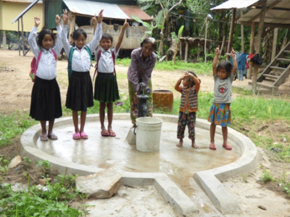 A headed household female improved healthy condition after accessing to water well